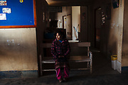 A woman attends for medical care to the health center of Rinconada.
