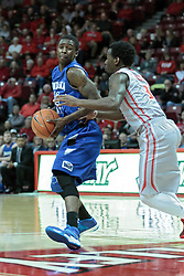 26 February 2014:  Dawon Cummings & Daishon Knight during an NCAA Missouri Valley Conference (MVC) mens basketball game between the Indiana State Sycamores and the Illinois State Redbirds  in Redbird Arena, Normal IL.