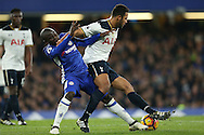 Mousa Dembele of Tottenham Hotspur pushes back Ngolo Kante of Chelsea. Premier league match, Chelsea v Tottenham Hotspur at Stamford Bridge in London on Saturday 26th November 2016.<br /> pic by John Patrick Fletcher, Andrew Orchard sports photography.