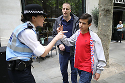 """© Licensed to London News Pictures . 24/06/2017. London, UK. Ian Crossland at the demo.  The English Defence League ( EDL ) hold a March on Parliament , from Charing Cross to Victoria Embankment , opposed by a counter demonstration by Unite Against Fascism . Scotland Yard said it was using public order laws to restrict the marches """"due to concerns of serious public disorder, and disruption to the community"""" following terrorist attacks in Manchester , Westminster and Finsbury Park and the Grenfell Tower fire . Photo credit: Joel Goodman/LNP"""