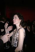 Mollie Dent-Brocklehurst,  Whitechapel and Hogan present Art Pls Drama Party 2007. Whitechapel Gallery. London. 8 March 2007. -DO NOT ARCHIVE-© Copyright Photograph by Dafydd Jones. 248 Clapham Rd. London SW9 0PZ. Tel 0207 820 0771. www.dafjones.com.