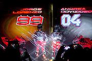 Foto LaPresse - Massimo Paolone<br /> 20/01/17 Bologna (Italia)<br /> Cronaca<br /> MotoGP - La presentazione del team Ducati 2017 con Lorenzo e Dovizioso<br /> Nella foto: Jorge Lorenzo e Andrea Dovizioso<br /> <br /> Photo LaPresse - Massimo Paolone<br /> 20 January 2017, Bologna (Italy)<br /> MotoGP - The presentation of the Ducati 2017 team with Lorenzo and Dovizioso<br /> In the pic: Jorge Lorenzo and Andrea Dovizioso
