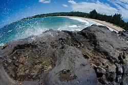 D.T. Fleming Beach Park (Fisheye), Kapalua, Maui, Hawaii, US