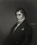 George Hamilton-Gordon, 4th Earl of Aberdeen (1784-1860). Scottish statesman and diplomat. British Prime Minister 1852-1855 during the  Crimean War.  Engraving.