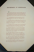 Instrument of Surrender, USS Missouri Memorial, Ford Island, Pearl Harbor, Oahu, Hawaii