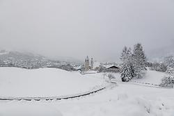 THEMENBILD - Tief verschneiter blick auf die Stadt Kitzbuehel, aufgenommen am 10. Jänner 2019, Kitzbuehel, Oesterreich // Deep snowy view of the city Kitzbuehel at Kitzbuehel, Austria on 2019/01/10. EXPA Pictures © 2019, PhotoCredit: EXPA/ Stefan Adelsberger