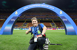 Photographer Vid Ponikvar after the football match between Real Madrid (ESP) and Atlético de Madrid (ESP) in Final of UEFA Champions League 2016, on May 28, 2016 in San Siro Stadium, Milan, Italy. Photo by Vid Ponikvar / Sportida