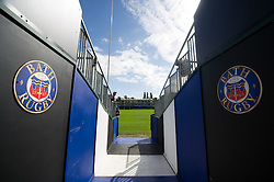 A general view of the tunnel leading to the Recreation Ground pitch - Mandatory byline: Patrick Khachfe/JMP - 07966 386802 - 17/09/2016 - RUGBY UNION - The Recreation Ground - Bath, England - Bath Rugby v Worcester Warriors - Aviva Premiership.