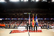 The University of Wisconsin Navy is seen at the Kohl Center before the men's basketball game in Madison, Wisconsin on March 4, 2012.