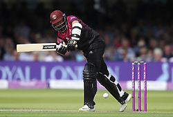 Somerset's Azhar Ali hits a boundary during the Royal London One-Day Cup final at Lord's, London.
