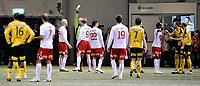 Fotball<br /> 20 februar 2010<br /> Treningskamp<br /> Lillestrøm - Fredrikstad<br /> Raio Piiroja , Fredrikstad får gult kort etter situasjonen mot Antony Ujah , Lillestrøm <br /> Foto : Reidar Talset , Digitalsport