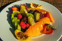 Fresh fruit plate, Tere Nui Restaurant, Four Seasons Resort Bora Bora, French Polynesia.