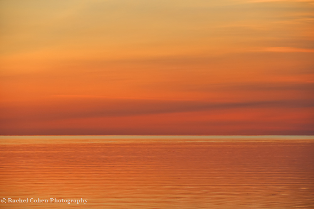 """""""Dawn of Calm""""<br /> <br /> A beautiful and calming abstract sunrise image over Lake Huron!!<br /> An apricot colored dream!!<br /> <br /> Nature Abstracts by Rachel Cohen"""