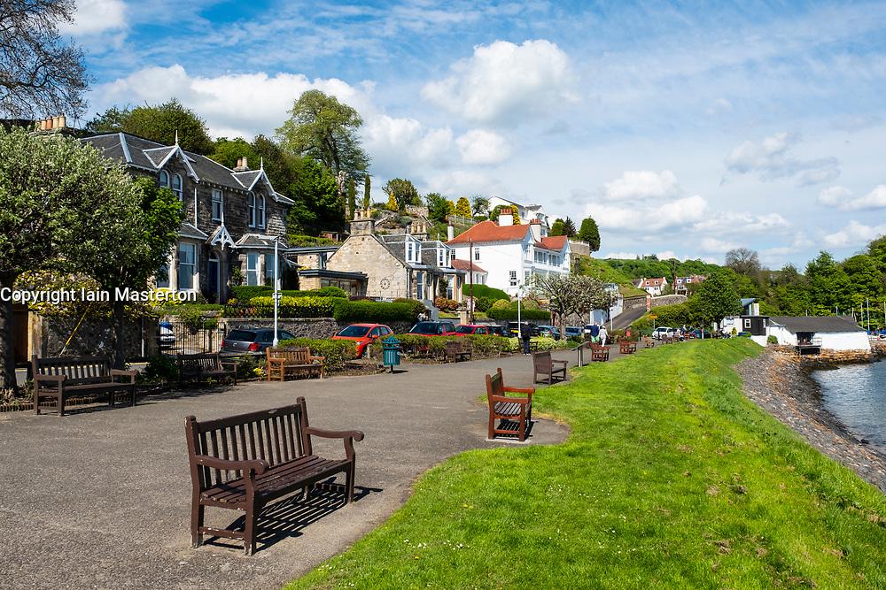 Seafront at Aberdour village in Fife, Scotland, UK