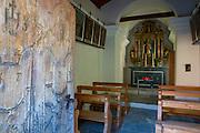 Small chapel in village of Zmutt in the Swiss Alps near Zermatt, Switzerland