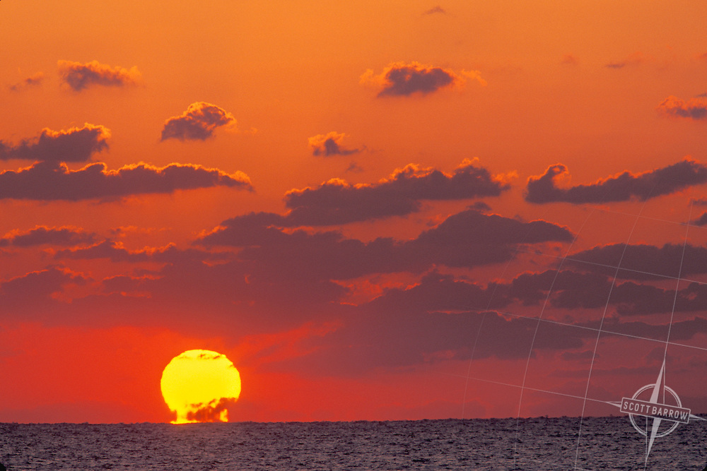 Beach Scene, Sunrise, Sunset