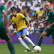 Neymar, Brazil, in action during the Brazil V Mexico Gold Medal Men's Football match at Wembley Stadium during the London 2012 Olympic games. London, UK. 11th August 2012. Photo Tim Clayton