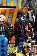 The cast of ' Hair' at The Macy's 82nd Annual ThanksGiving Day Parade held in NYC on Thankgiving Day, Novemeber 27, 2008..Macy's Thanksgiving Day Parade is internationally recognized as the official start to the holiday season and world famous as an American enterainment extravaganza. Each year, Macy's brings out a lineup of spactacular floats, Giant Hellium Balloons, Marching Bands, perfomance groups and top name stars from the television, film and recording industries.