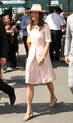 Pippa Matthews on day seven of the Wimbledon Championships at the All England Lawn Tennis and Croquet Club, London.