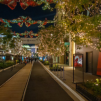 Shoppers enjoy Christmas lights at the Americana Mall in Glendale, California.