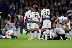 April 30, 2019 - London, England, United Kingdom - A worry for Spurs as Tottenham defender Toby Alderweireld and Jan Vertonghen clash during the UEFA Champions League match between Tottenham Hotspur and Ajax Amsterdam at White Hart Lane, London on Tuesday 30th April 2019. (Credit Image: © Mi News/NurPhoto via ZUMA Press)