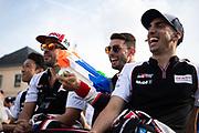 June 10-16, 2019: 24 hours of Le Mans. 8 Fernando Alonso, Toyota Gazoo Racing, TOYOTA TS050 - HYBRID , 7 Jose Maria Lopez, Toyota Gazoo Racing, TOYOTA TS050 - HYBRID , 8 Sébastien Buemi, Toyota Gazoo Racing, TOYOTA TS050 - HYBRID , driver's parade