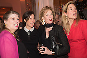 ELIZABETH PEYTON-JONES;  LUCINDA PEYTON-JONES; JULIA PEYTON-JONES;  MARINA PEYTON-JONES, The Veuve Clicquot Business Woman Award. Claridge's Ballroom. London W1. 11 May 2015.