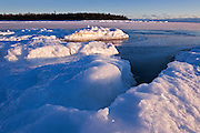 Ice on shore of Lake Huron. South Baymouth.<br /> Manitoulin Island<br /> Ontario<br /> Canada