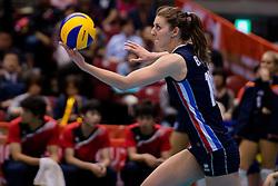 15-05-2016 JAP: OKT Nederland - Zuid Korea, Tokio<br /> Er is nog niets verloren, maar de volleybalsters van Oranje hebben tijdens het OKT een gevoelige 3-0 nederlaag geleden tegen Zuid-Korea / Anne Buijs #11