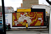 La Paz. Wall painting saying 'Not another time'.