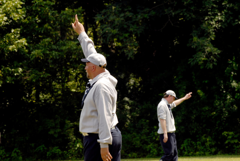 (staff photo by Matt Roth)..The Elkton Eclipse hosted the New York Mutuals Sunday July 9th, 2006 for a game of vintage baseball on the Eclipse's home turf at the Historic Elk Landing grounds.