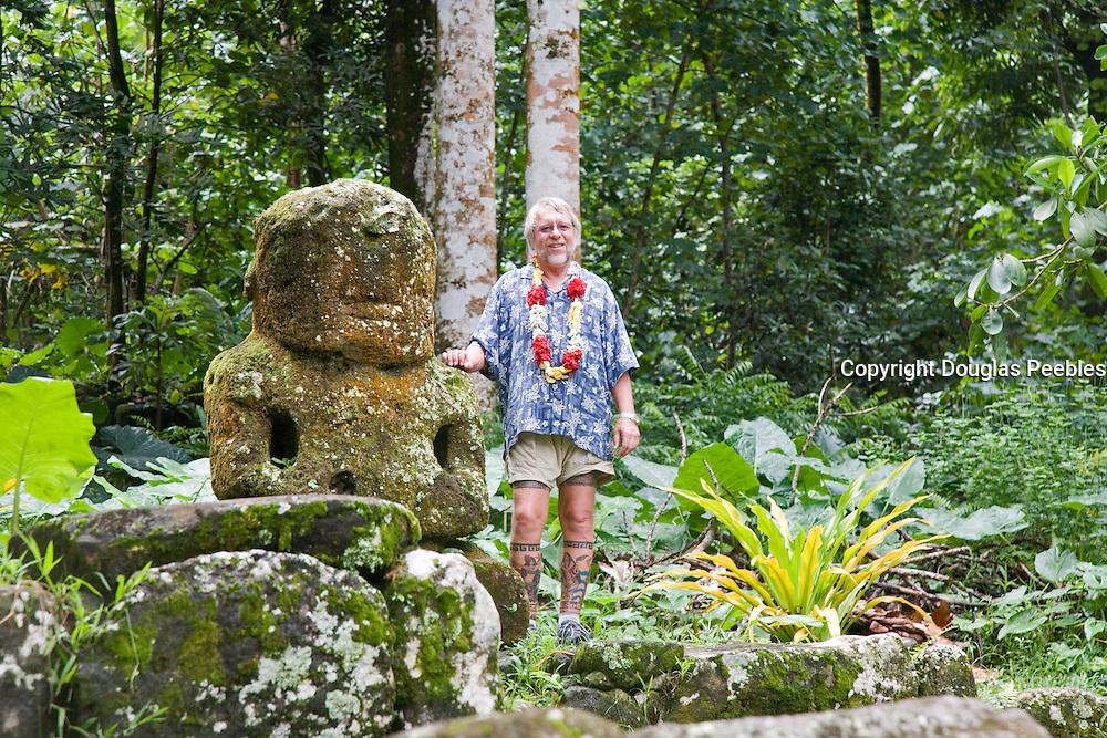 Meae Iipona, Puamau, Hiva Oa, Marquesas Islands, French Polynesia, (Editorial use only)<br />