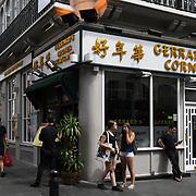 Garrard Corner Chinese restaurants in Chinatown London on July 19 2018, UK