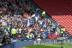Falkirk's fans.<br /> Hibernian 0 v 1 Falkirk, William Hill Scottish Cup semi-final, played 18/4/2015 at Hamden Park, Glasgow.