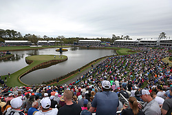 March 16, 2019 - Ponte Vedra Beach, FL, U.S. - PONTE VEDRA BEACH, FL - MARCH 16: A general view of the 17th hole during the third round of THE PLAYERS Championship on March 16, 2019 on the Stadium Course at TPC Sawgrass in Ponte Vedra Beach, Fl. (Photo by David Rosenblum/Icon Sportswire) (Credit Image: © David Rosenblum/Icon SMI via ZUMA Press)