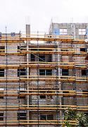 Scaffoldings on a construction project