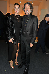 STEPHEN & ASSIA WEBSTER at the PAD London 2014 VIP evening held in the PAD Pavilion, Berkeley Square, London on 14th October 2014.