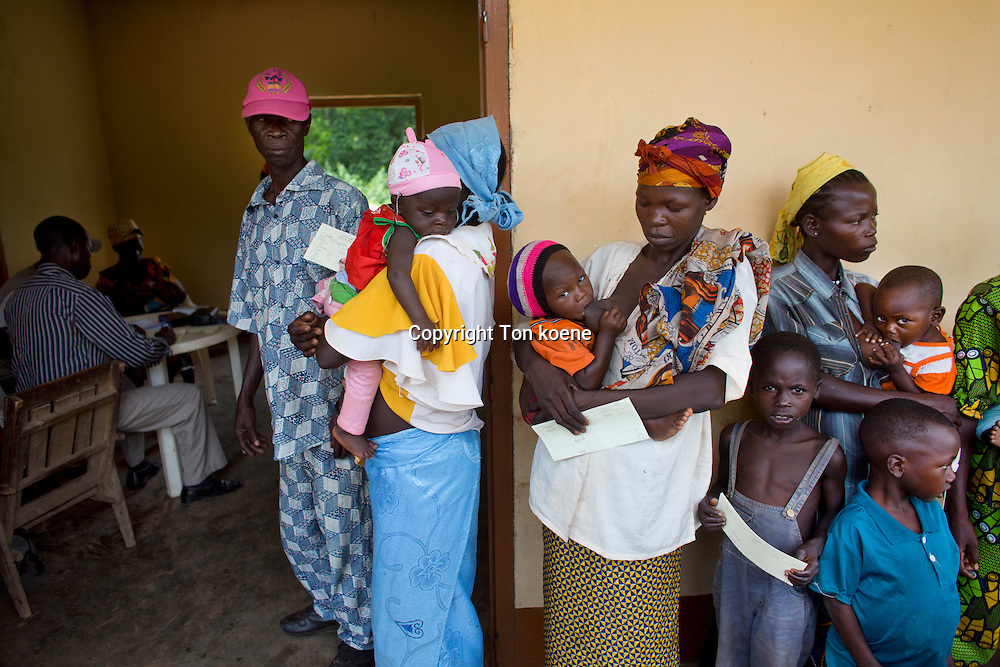 MSF-OCA mobile clinic two hours drive from bossangoa, central african republic, most patients are diagnosed with malaria.
