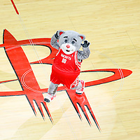 23 May 2015: Houston Rockets mascot Clutch is seen during the Golden State Warriors 115-80 victory over the Houston Rockets, in game 3 of the Western Conference finals, at the Toyota Center, Houston, Texas, USA.