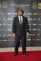LIVERPOOL, ENGLAND - Tuesday, May 6, 2014: Actor Noel Clarke arrives on the red carpet for the Liverpool FC Players' Awards Dinner 2014 at the Liverpool Arena. (Pic by David Rawcliffe/Propaganda)