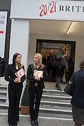 20/21 British Art Fair. Celebrating its 25 Anniversary. The Royal College of Art . Kensington Gore. London. 12 September 2012.