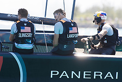 June 21, 2017 - Bermudes, USA - The Great Sound, Bermuda, 18th June. Oracle Team USA crew after their fourt loss in arow to Emirates Team New Zealand. Day two of the America's Cup. (Credit Image: © Panoramic via ZUMA Press)