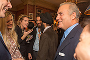 CLAIRE INGLE-FINCH; WARIS AHLUWALIA; SANDRO KOPP; CHARLES FINCH, Charles Finch and  Jay Jopling host dinner in celebration of Frieze Art Fair at the Birley Group's Harry's Bar. London. 10 October 2012.