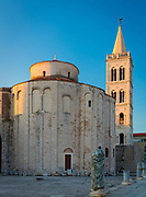 The Church of St. Donatus is a church located in Zadar, Croatia. Its name refers to Donatus of Zadar, who began construction on this church in the 9th century and ended it on the northeastern part of the Roman forum. Originally named (and dedicated to) the church of the Holy Trinity, in the 15th century it was renamed the Church of St. Donatus.<br /> <br /> Church of St. Donatus is the largest Pre-romanesque building in Croatia. It is also one of the most impressive churches of centralised type of the Carolingian period in Europe.