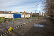 Metal fencing outside Dulwich Hamlet F.C. on 14th March 2018 in East Dulwich, South London in the United Kingdom. Meadow Residential, an American property investment fund, last week evicted Dulwich Hamlet F.C. and recently set up new metal fence outside the ground preventing access. Meadow have always wanted to turn Champion Hill into flats. Formed in 1893, the Premiere Division, Isthmian League team Dulwich Hamlet F.C. have played at Champion Hill since 1902. Beginning at the Freeman's Ground on Champion Hill until 1912, before moving to an adjacent plot of land, where they played until the opening of the Champion Hill stadium in 1931. During the 1991–92 season the club played at Tooting & Mitcham United's Sandy Lane ground, whilst a new, smaller stadium was built on the same site, opening for the start of the 1992–93 season, and have played at the ground since.