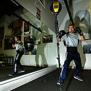 Raymond Grajeda works out at the La Habra Boxing Club on November 6, 2015, in La Habra, California.<br /> <br /> Photo by Yong Teck Lim/Sports Shooter Academy