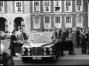 EEC Leaders Meet At Dublin Castle.   (N4)..1979..29.11.1979..11.29.1979..29th November 1979..At Dublin Castle the leaders of the countries within the EEC held a summit conference to discuss issues which would affect the EEC over the forthcoming years..Image shows Mr Roy Jenkins, President of the EEC Commission,arriving at Dublin Castle for the EEC summit.