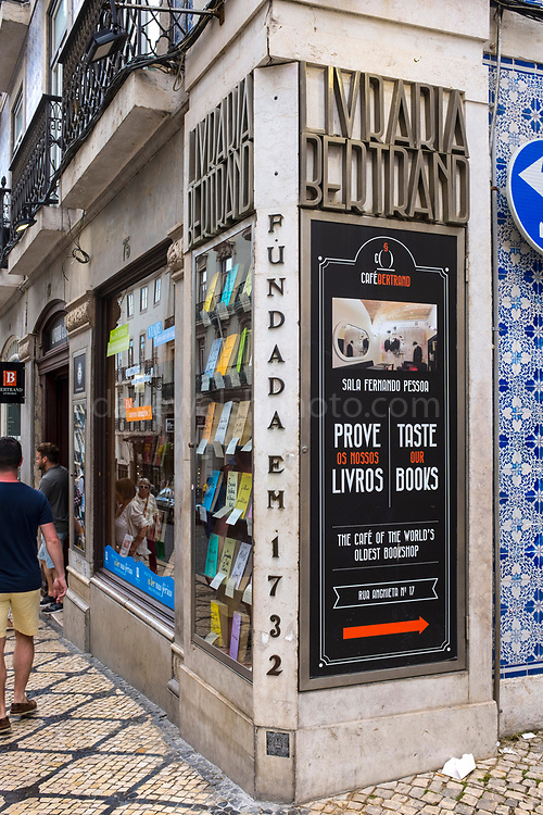 Livraria Bertrand in Lisbon is the oldest and largest bookstore chain in Portugal. Since it was opened in 1742, it has remained in business and is the oldest bookshop in the world still in operation.
