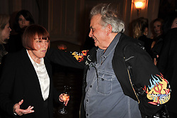 MARY QUANT and DAVID BAILEY at a dinner hosted by Vogue in honour of photographer David Bailey at Claridge's, Brook Street, London on 11th May 2010.