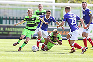 Forest Green Rovers Isaac Pearce(17) on the ball during the EFL Sky Bet League 2 match between Forest Green Rovers and Exeter City at the New Lawn, Forest Green, United Kingdom on 4 May 2019.